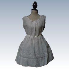 Beautiful All Original Antique batiste Slip Underwear for huge bisque doll