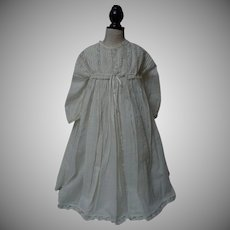 All Original Antique Dress w/ Chemise for french bebe Jumeau Steiner doll