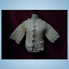 All Original Antique wool Sweater fit for german bisque doll or french bebe doll