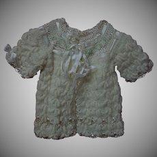 Exquisite All Original 1940's Wool Silk Sweater Bonnet Booties