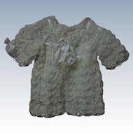 Gorgeous All Original 1940's Wool Silk Sweater for antique german french bisque doll