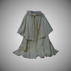 All Original Antique Christening Cape and Bonnet for german french huge bisque doll