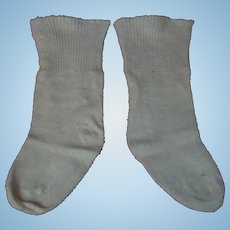 Antique cotton knit Socks  for 25-29 inches  german bisque french bebe doll