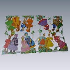 Beautiful  Uncut Vintage mid century Die-cuts Sheet  MLP  Made in England