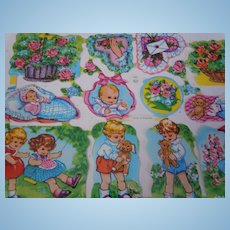 Beautiful  Vintage mid century Uncut Die-cuts Sheet  MLP Made in England