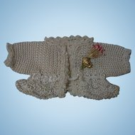 Beautiful pure silk tiny Sweater for Bleuette sized french bebe doll