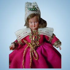 Vintage Petit Collin Celluloid french Doll 7 inches movable arms and legs