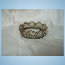 Exquisite Couture Crown for cabinet sized french bebe or wax doll