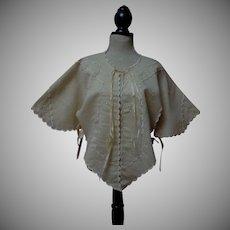 Wonderful All Original Antique 19th century hand embroidered Jacket