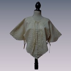 Wonderful All Original Antique 19th century hand embroidered Jacket