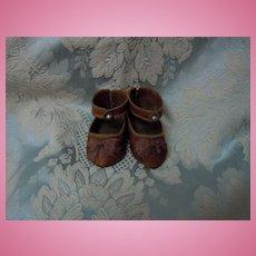 Gorgeous Jumeau style genuine Leather Shoes