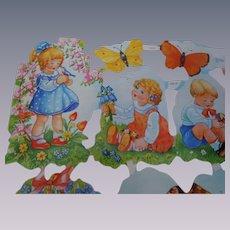 Vintage mid century Uncut Die-cuts Sheet Childrens MLP Made in England No 1673