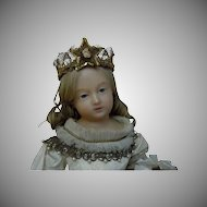 Wonderful Couture Crown for Wax doll or cabinet sized french bebe Jumeau