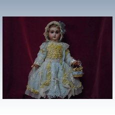 "Couturier Costume Dress w/ Petticoat Hat Basket for 23-25"" doll"