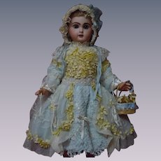 """Couturier Costume Dress w/ Petticoat Hat Basket for 23-25"""" doll"""