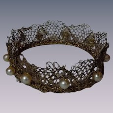 Exquisite Couture Crown for cabinet sized  doll
