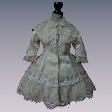 Gorgeous silk Dress for french bebe Jumeau Steiner doll