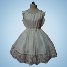 Antique 19th Century Full Slip for 25 to 31 inches french bebe doll