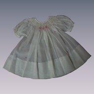 All Original Old 1940's hand smocked organza Dress