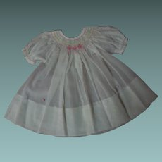 All Original Old 1940's hand smocked organza Dress