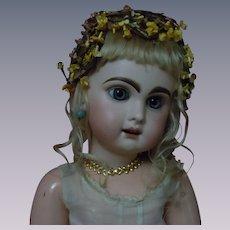 Beautiful Antique Headdress velvet forget me nots