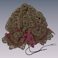 Original Antique Mob Cap for german french bisque doll