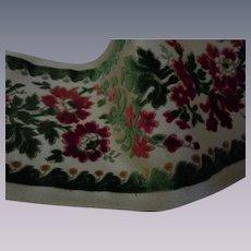Vintage Belgium Velvet Tapestry floral Panel Passementerie