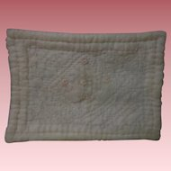 Antique Rose Chiffon Blanket Bedspread for Doll Bed Cradle Carriage or Trunk Decor