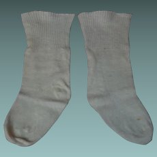 Antique cotton knit Socks for german bisque french bebe doll