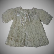All Original 1940's Wool Silk Sweater for antique german french bisque doll
