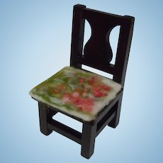 Vintage Solid Wood Chair for Cabinet sized doll