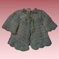 All Original Antique early century wool Sweater for german bisque french Bebe doll