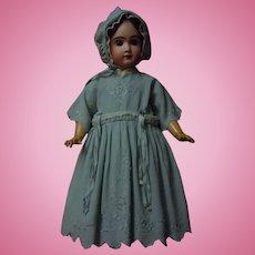 Antique Embroidered Dress Slip Bonnet for huge german french bisque doll