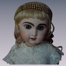 Charming Old 1930s Fantasy Pearls Headband Tiara for german french bisque  doll