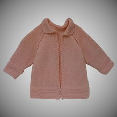 Wonderful set Rose wool Sweater and panties for real baby or german french bisque doll