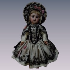 Gorgeous Dress and Hat for antique french bebe Jumeau doll