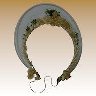 All Original Antique 19th Century Orange Blossoms Wax Tiara