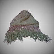 Exquisite Shawl wool pure silk Fringe for antique doll carriage Decor