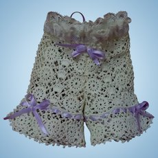 Lovely Lace Bloomers for cabinet sized french Bebe antique doll