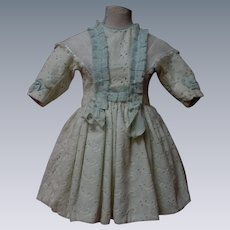 Lovely Cotton Eyelet Embroidery Dress w/ Petticoat  and Cap