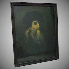Leonardo da Vinci Self Portrait Color Photography wood framed glass covered  Firenze Italia
