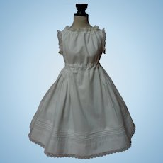Original Antique Linen Cotton Full Slip for 27 to 31 inches french bebe doll