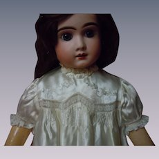 """Exquisite Embroidered Silk Satin Dress for 27"""" to 33"""" huge doll"""