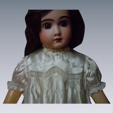"Exquisite Embroidered Silk Satin Dress for 27"" to 33"" huge doll"