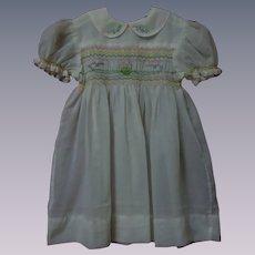 Wonderful All Original Mid Century hand smocked Dress