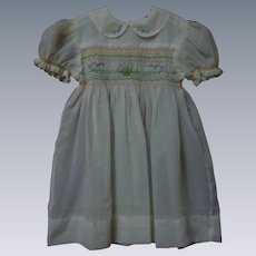 Wonderful All Original Mid Century hand smocked Dress