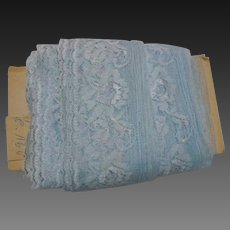 Great Lot Vintage Blue Tulle Lace Trim 19 Yards x 3 inches wide for doll clothing decor
