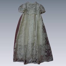 "Wonderful Lace Dress w/ Slip for 30"" to 36"" huge doll"