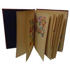 Wonderful Antique Scrapbook w/ Lot of Old Die-cuts