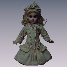 """Lovely French Bebe  Dress w/ Petticoat Tiara for 18"""" to 19"""" antique doll"""